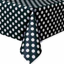 Black Polka Dots Plastic Table Covers Mickey Birthday Decorations Party ... - $4.99