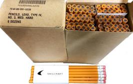 Skilcraft No. 3 Hard Lead Pencils Yellow Wood Cased Box of 6 Dozen 72 Cl... - $29.70