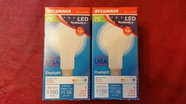 SYLVANIA A21 Glass Dimmable 75w LED Bulb Soft White 1100 Lumens Lot of 2 - $15.43