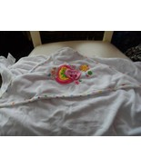 Babies R Us bath wrap with embroidered pink snail and butterfly - $6.50