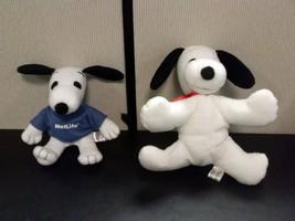 TWO Snoopy Plush MetLife Dolls - $8.54