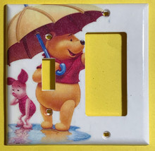 Winnie the Pooh & Piglet Light Switch Duplex Outlet wall Cover Plate Home decor image 4