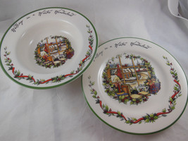 "International China Susan Winget Winter Wonderland 9"" each Bowl and plate - $11.08"