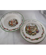 "International China Susan Winget Winter Wonderland 9"" each Bowl and plate - $11.08"