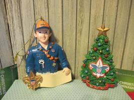 BOY SCOUTS of AMERICA - Set of 2 Ornaments - Cub Scout & Tree - New with... - $10.00