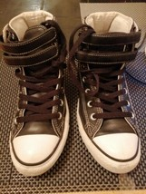 Black Converse Chuck Taylor All Star Hi Tops leather look size 5 excelle... - $7.09