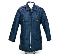 Vintage Uniforms Unlimited Mens Size 34 Blue Full Zipper Lined Jacket Coat - $37.79
