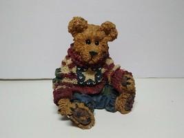 "Boyds Bears Figurine Bearstone Collection 228312 Patriotic 3.5"" 2002 - $18.80"