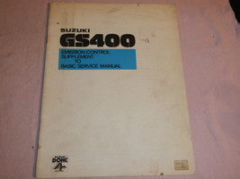 1978 78 Suzuki GS400 Gs 400 Supplement Shop Service Repair Manual - $40.65