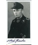 Albert Kerscher signed photo. Panzer KC winner. Nice! 100+ tank kills !! - $42.00