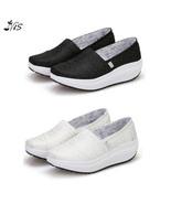 Nis Women Slip On Wedge Shoes Platform Casual Trainers Creeper Walking L... - $30.70