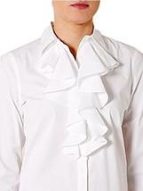 RALPH LAUREN Blue Label Long-Sleeve Ruffled Shirt 2; 8; 10 MSRP $225.00 - $99.99