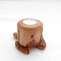 Apple Tree Handcrafted Country Rustic Medieval Folk Art Tealight Candleh... - $33.99