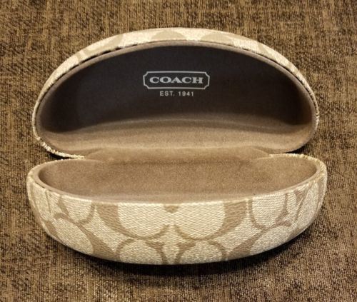 5595e6e09a45 Coach Original Sunglasses Eyewear Case Brown and 32 similar items