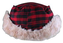 "Christys Crown ""Hunter"" Plaid Faux Shearling Ear Flap Cap Hat Medium/Large NWT image 5"