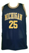 Jun Howard #25 College Basketball Jersey Sewn Navy Blue Any Size image 3
