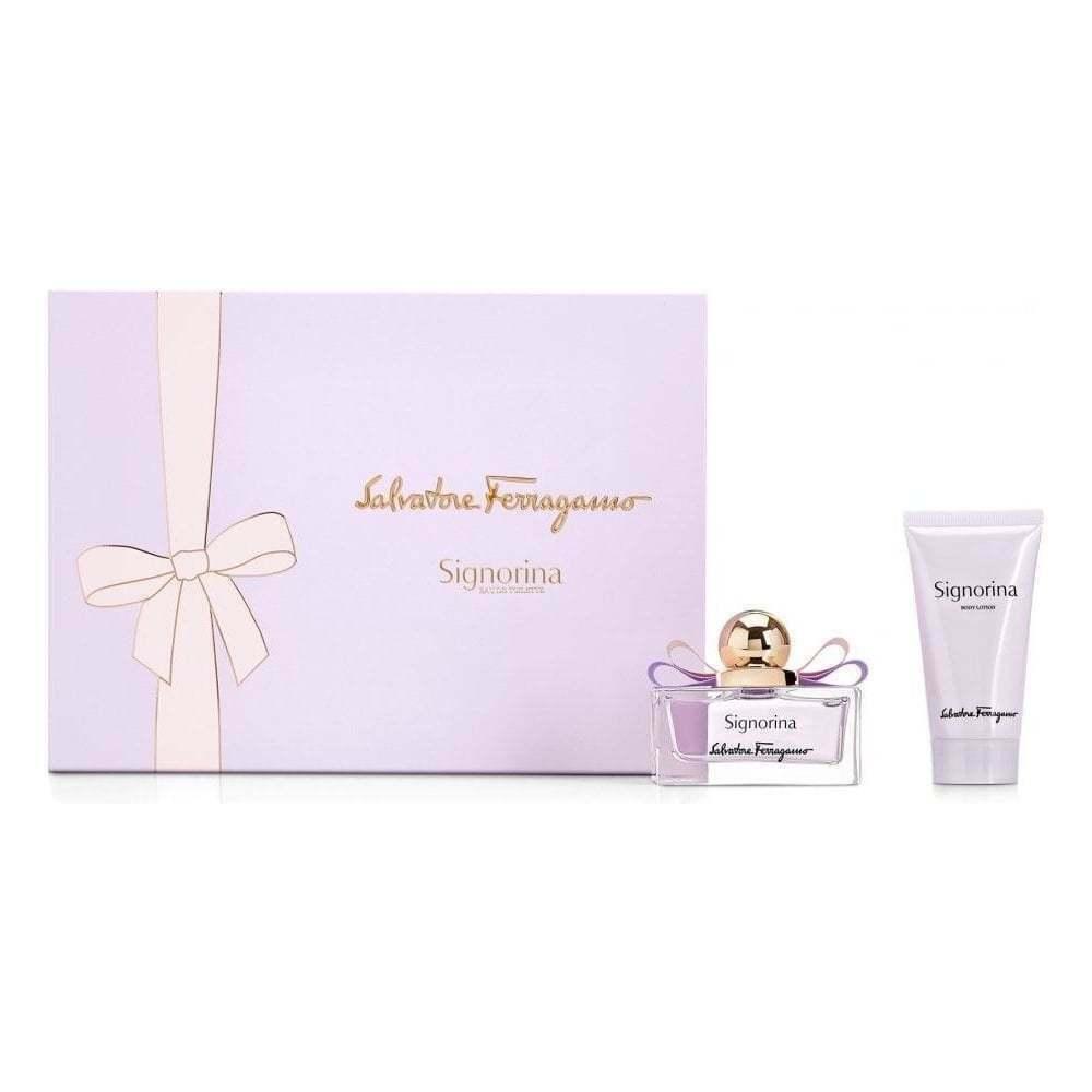 Salvatore Ferragamo Signorina  Spray and Body Lotion (Gift Set 50 ml 1.7 fl.oz )
