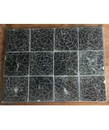 Lot of 12 Vintage Warner Prins Ceramic Pottery Tiles, Black White Abstract - $56.90