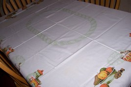 perfect country style vintage tablecloth Bonus free shipping  - $25.00