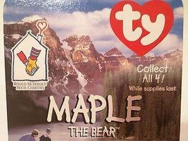 TY TEENIE BEANIE BABIES 1997 RONALD MCDONALD HOUSE CHARITIES ~MAPLE THE BEAR~ image 3