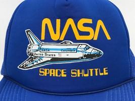 NASA Space Shuttle Graphic Navy Blue Mesh Trucker Snapback Hat Cap Mint ... - $19.95