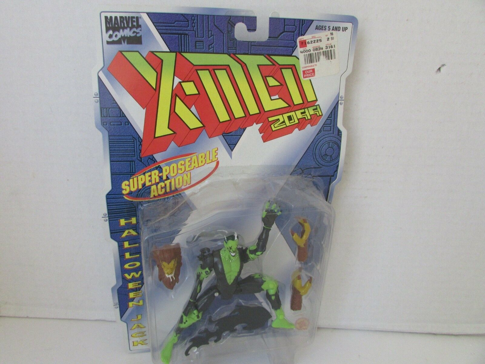 Toy Biz 43161 X-Men 2099 Halloween Jack Action Figure Cardato Nuovo L79