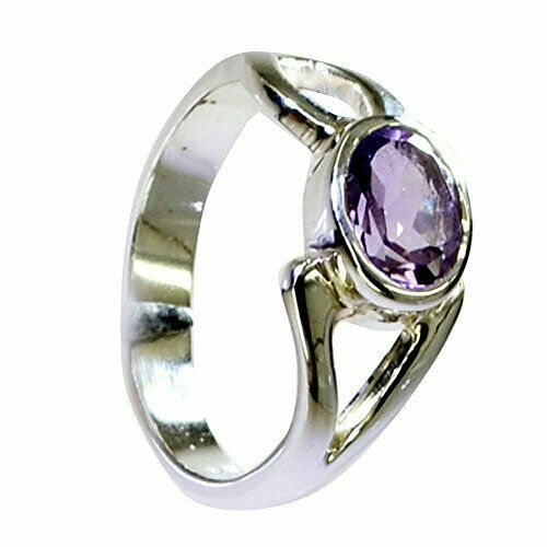 Primary image for Natural Purple Amethyst Gemstone Silver Ring For Men Women's Sizes In 4 To 13