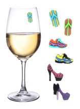 Magnetic Wine Glass Charms Set of 6 Wine Markers Beer Champagne Cute - $13.96
