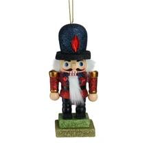"""Kurt Adler 5"""" Glittered Red and Blue Royal Wooden Christmas Nutcracker O... - $15.58"""