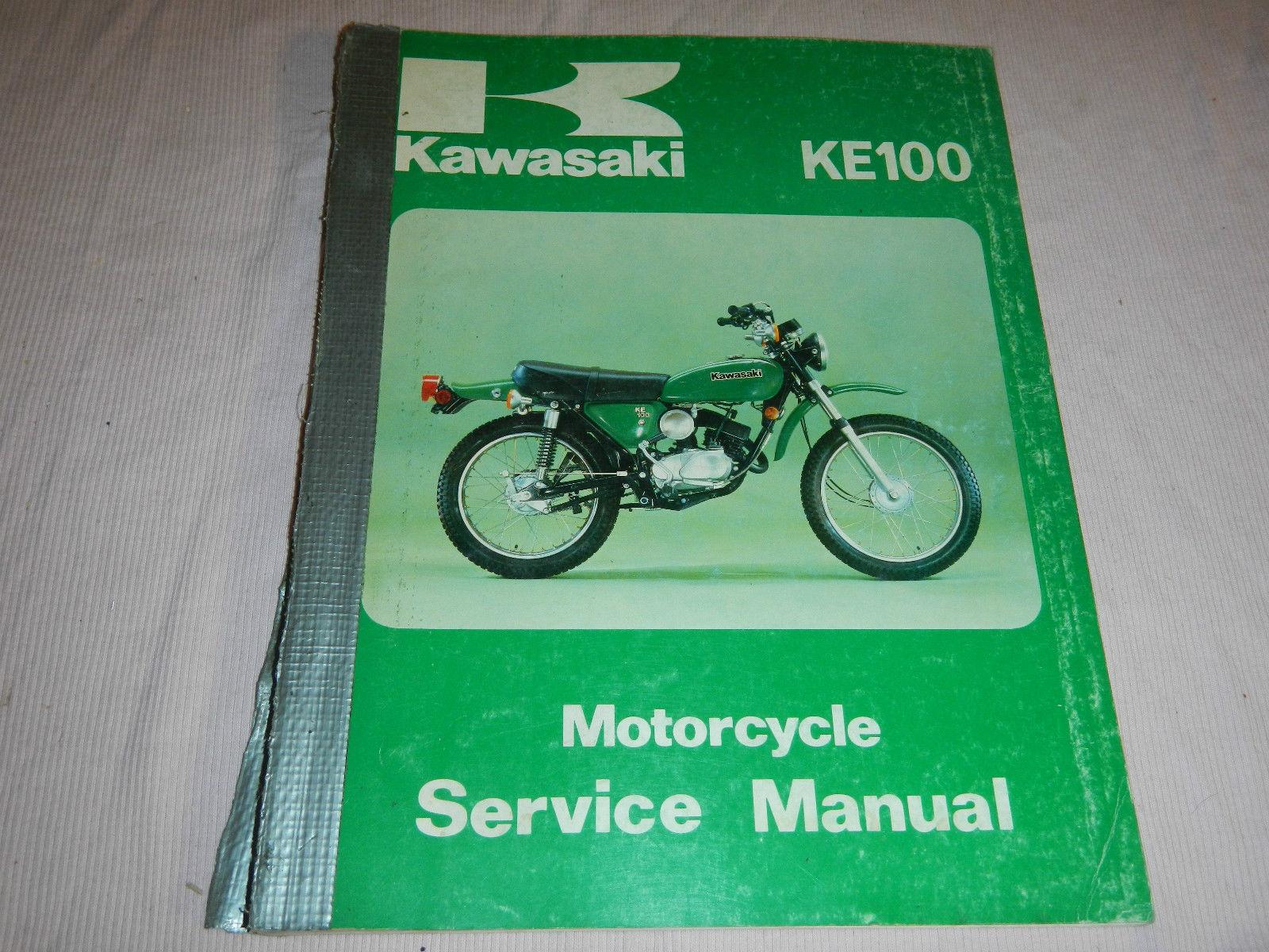 1978 78 KAWASAKI KE100 KE 100 SHOP SERVICE REPAIR MANUAL