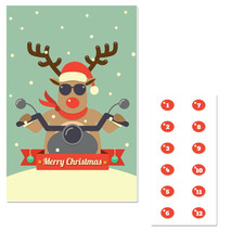 Winter Reindeer Biker Pin The Nose Christmas Party Game - £16.17 GBP