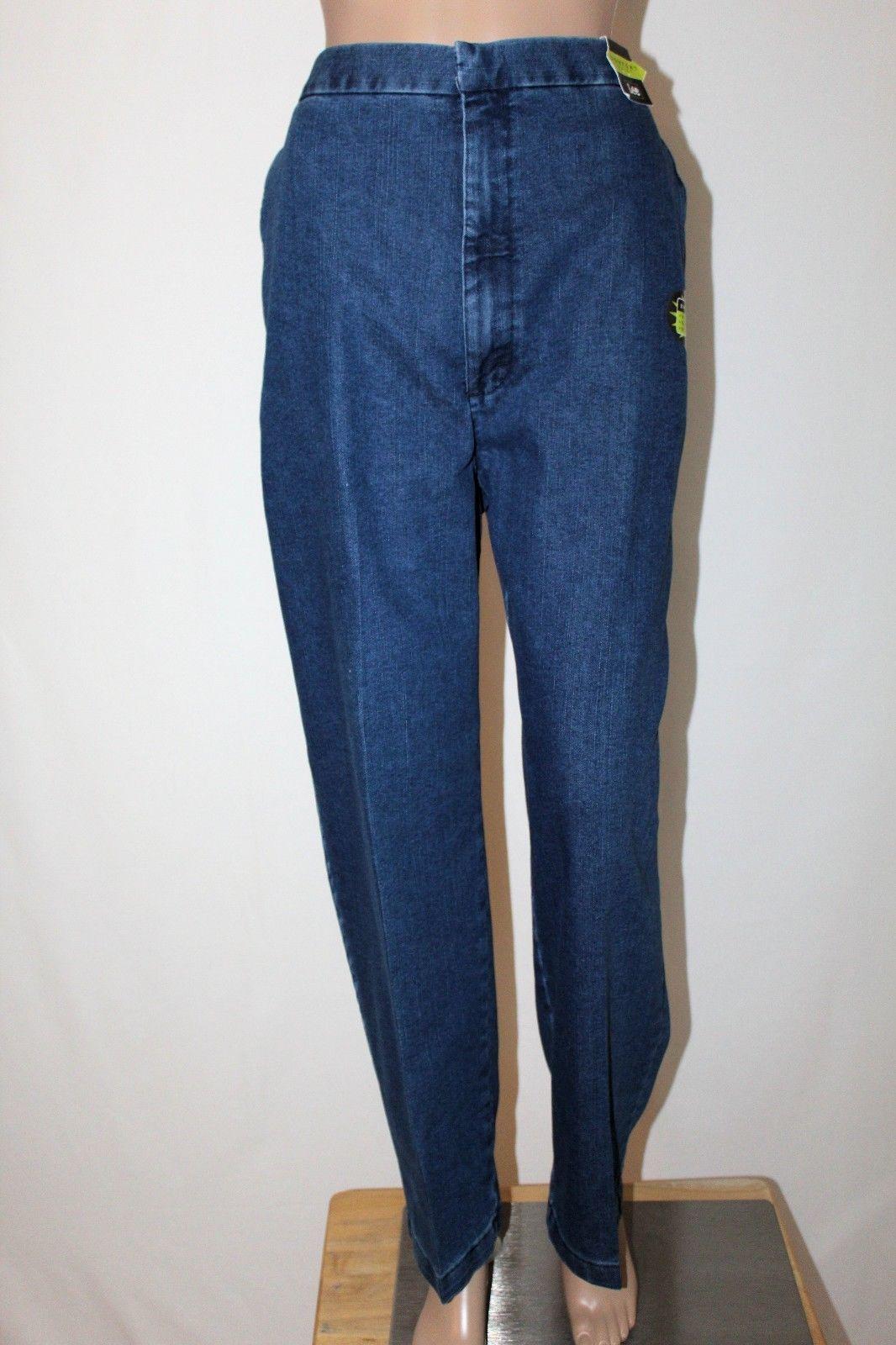 2b66d36b 57. 57. Previous. NWT LEE Feel Good Khakis Women's 18 Short High Waist Side  Elastic Denim Jeans