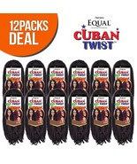 Freetress Equal Synthetic Hair Braids Double Strand Style Cuban Twist Br... - $64.42