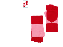 KATE SPADE COLORBLOCK POP TOP FINGERLESS GLOVES MITTENS $66 New With Tag - $43.56