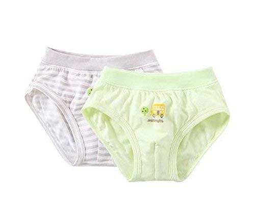 2 Pieces Breathable Soft Babies Underwear Panties, Gray Green, 2-3 Years