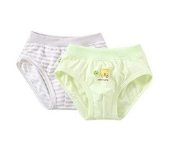 PANDA SUPERSTORE 2 Pieces Breathable Soft Babies Underwear Panties, Gray Green,