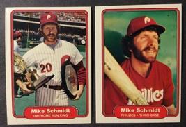 Free Shipping Lot 1982 Fleer Mike Schmidt Phillies HOF cards #258, #637 NM - $2.17