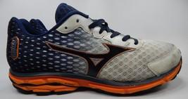 Mizuno Wave Rider 18 Running Shoes Men's Size US 14 M (D) EU 48.5 White Blue