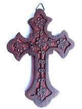 Iconsgr Handmade Wooden Holy Orthodox Religious Wood Carved Wall Cross Christ Cr - $19.70