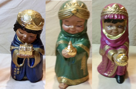 Three Children Kings Give Gifts to the New Born, Christmas Ceramic Figur... - $55.00