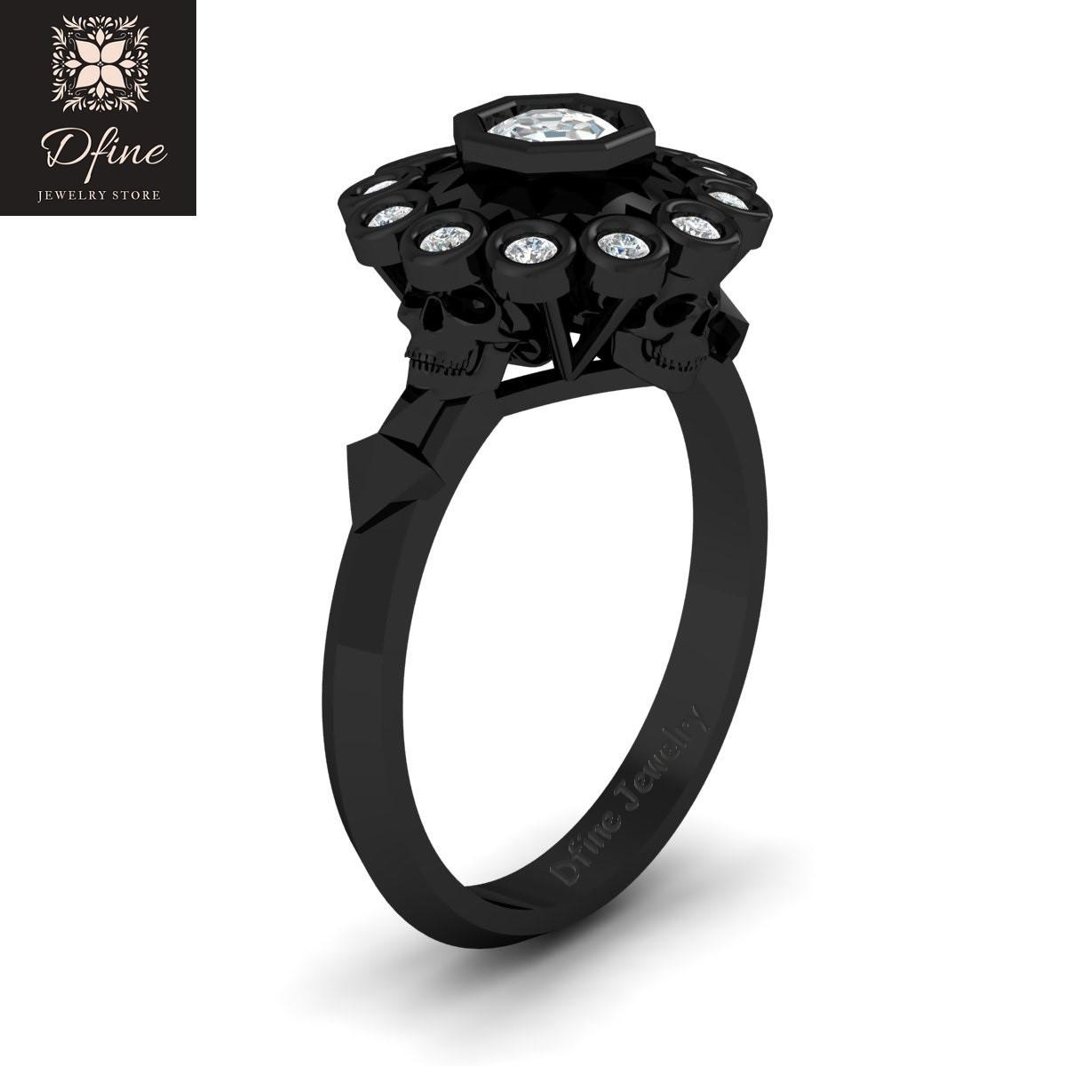 Octagon Diamond Ring Witchy Geeky Vapor Gloomy Mortal