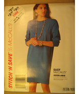 UNCUT Pattern 1992 EASY McCall SIZE 10 12 14 Misses Dress 5502 [Z25] - $4.51