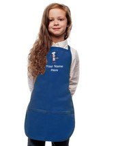 Personalized Kids Apron Royal Blue Monogrammed for little Boy and Girl Chefs - $22.43+