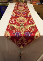 Tibetan silk brocade red norbu design shrine table cloth / with blessed ... - $30.00