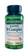 Nature's Bounty Super B Complex 150 coated tablets Free US Ship 4/2023 F... - $10.45