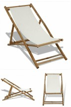 White Wooden Deck Chair Folding Camping Beach Hotel Pool Adjustable Loun... - $96.15