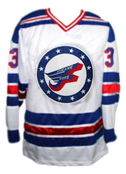 Spokane flyers retro hockey jersey white  1