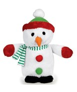 Singing Holiday Stuffed Snowman Toy Plays We Wish You A Merry Christmas ... - $18.70