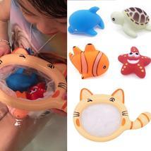 Floating Animals Bathtime Bathing Toys Children Fishing Net Catch Baby Toy - $15.99
