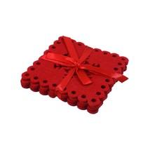 4er Packung Schneeflocke rot Filz Weihnachten Festliche Untersetzer 10cm... - $11.58